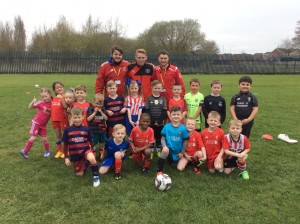 Training with Jamie Carragher's Soccer School